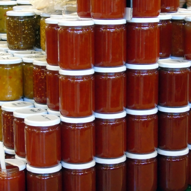 """""""homemade canned goods"""" stock image"""