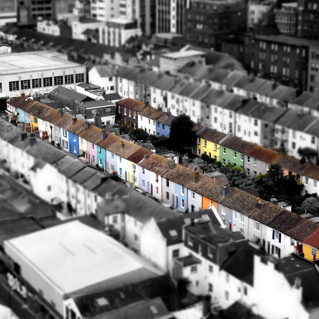 """Brighton from above"" stock image"