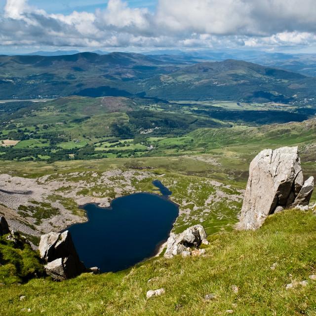 """Lake below Cader Idris"" stock image"