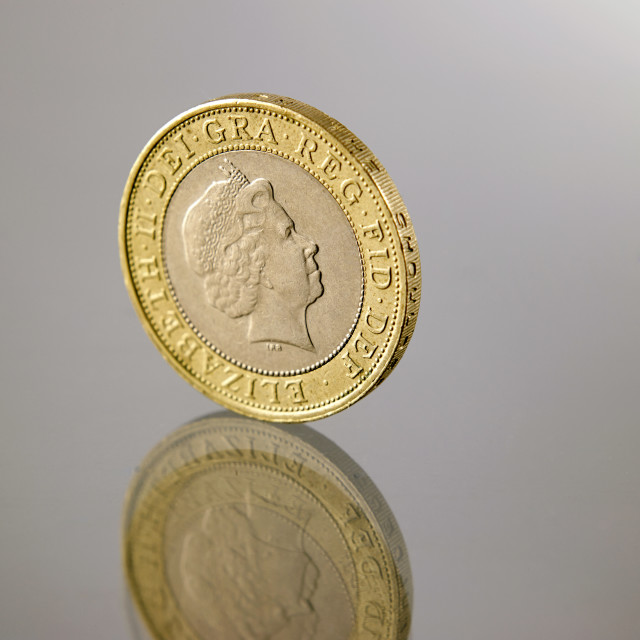 """""""two pound coin"""" stock image"""