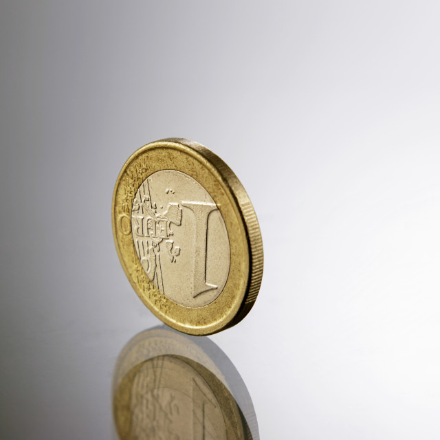 """one euro"" stock image"