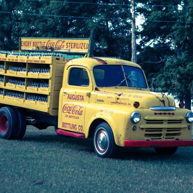 """""""1950s Coca Cola Van"""" stock image"""