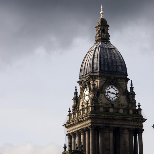 """Leeds Town Hall, Leeds, West Yorkshire, England."" stock image"