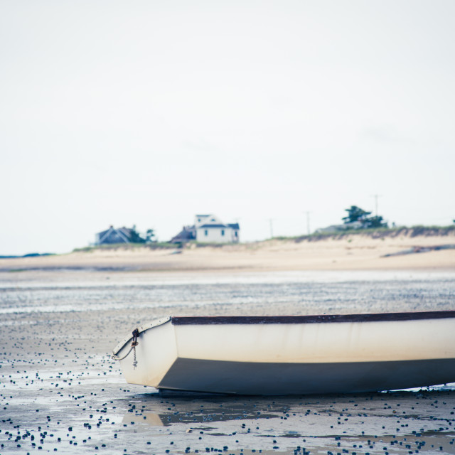 """Beached Dingy"" stock image"