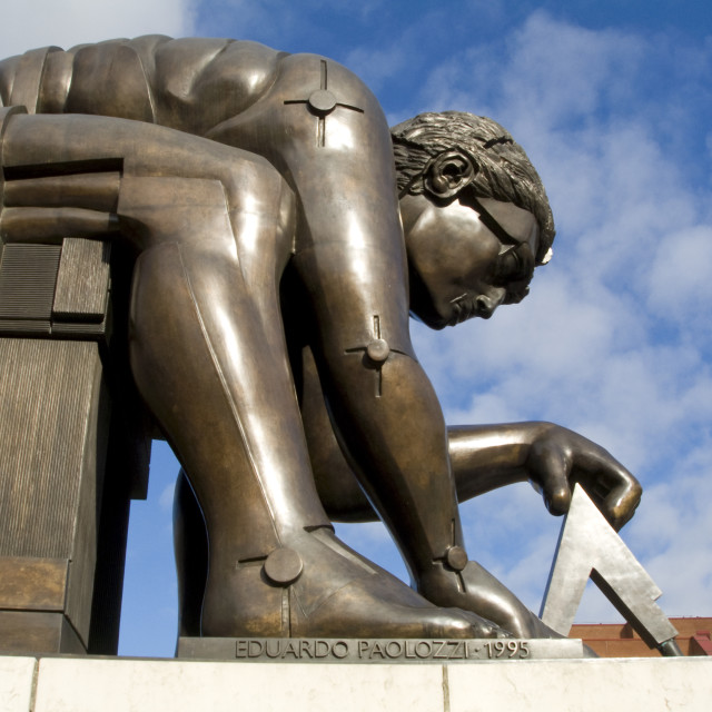 """Isaac Newton Statue at the British Library"" stock image"