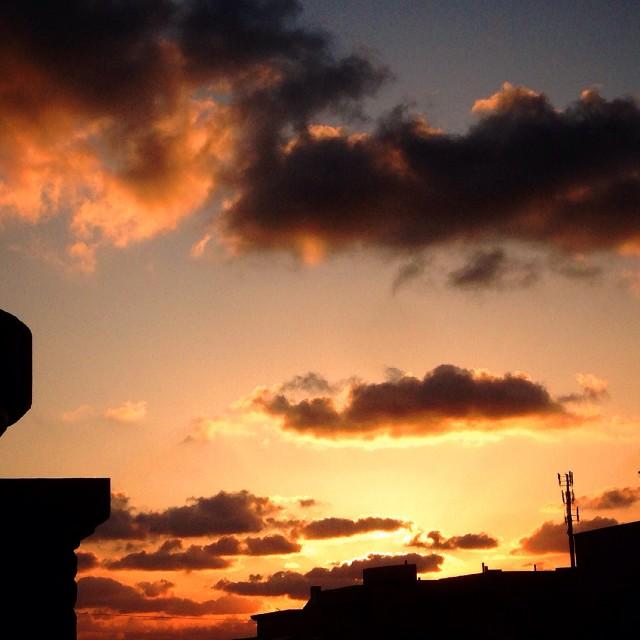 """Pink sunset"" stock image"