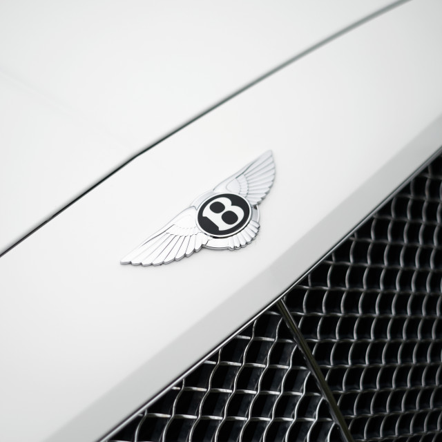 """Bentley Continental GT Badge"" stock image"