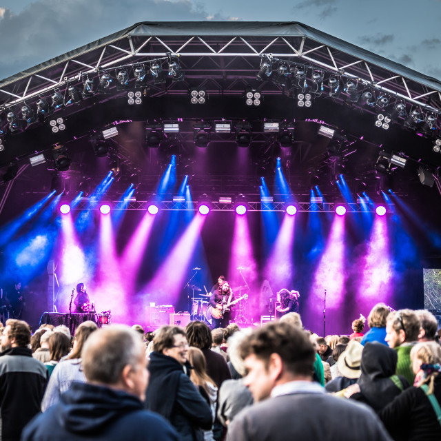"""Magic Numbers at Larmer Tree Festival 2015"" stock image"