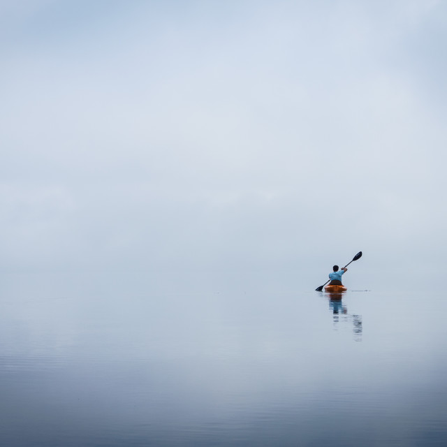 """Into the mist"" stock image"