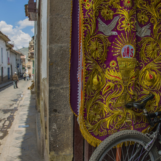 """Bike in Cuzco"" stock image"