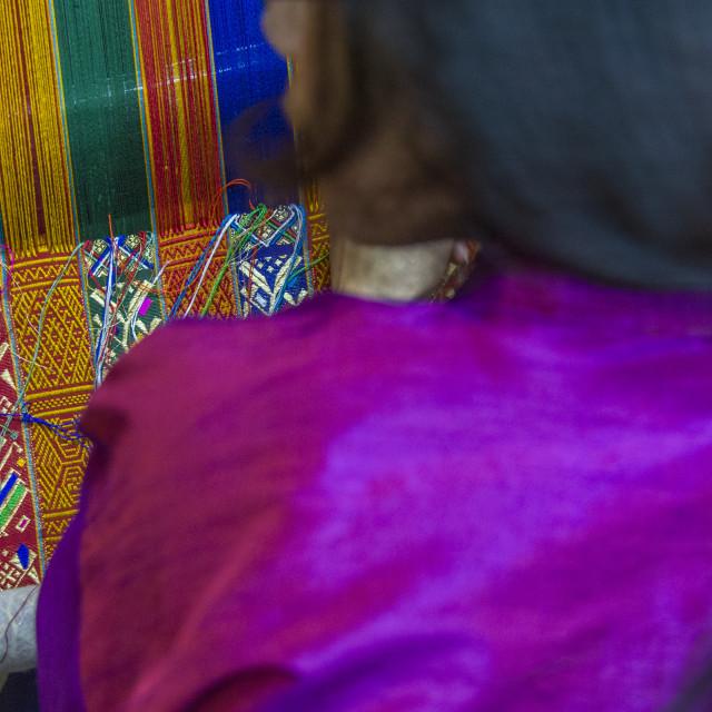 """Bhutanese weaver"" stock image"