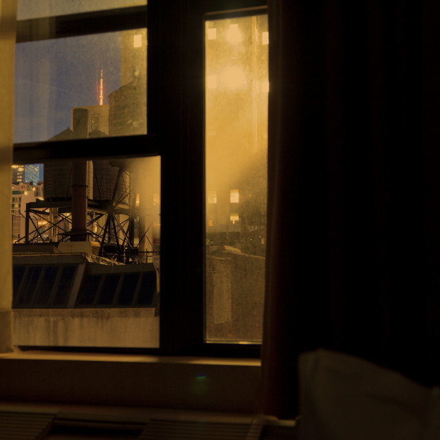 """""""New York from the window"""" stock image"""