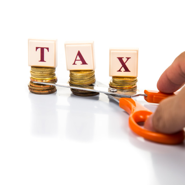 """Cut Tax concept"" stock image"