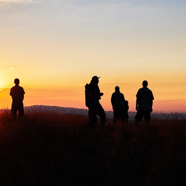 """""""Sunset gazing"""" stock image"""