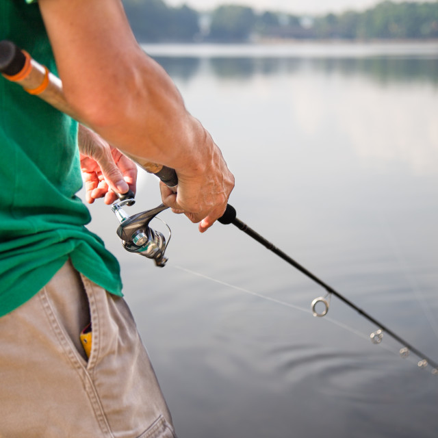 """Recreational fishing"" stock image"