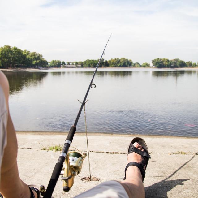 """Recreational fishing"" stock image"