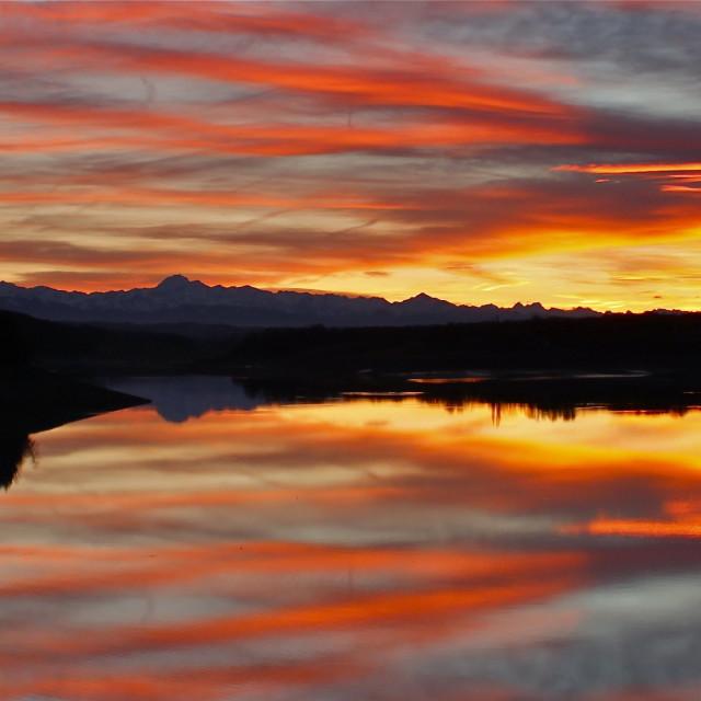 """Pyrenees Sunset"" stock image"