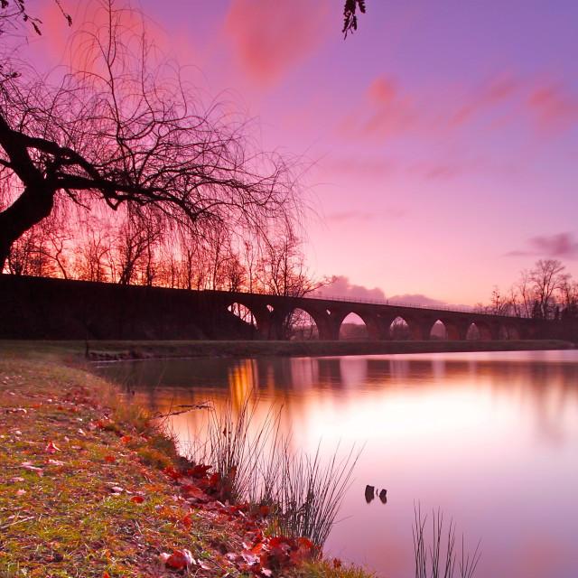 """""""Boulogne Sur Gesse Reservoir"""" stock image"""