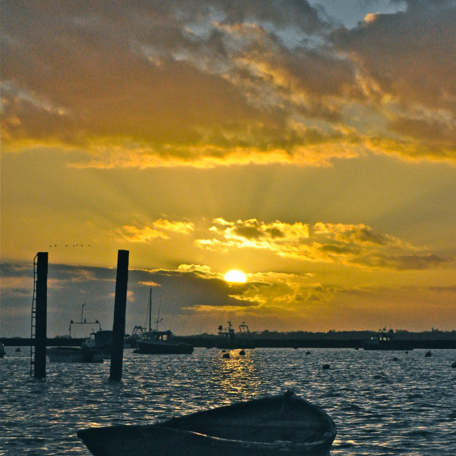 """Mersea Boat"" stock image"