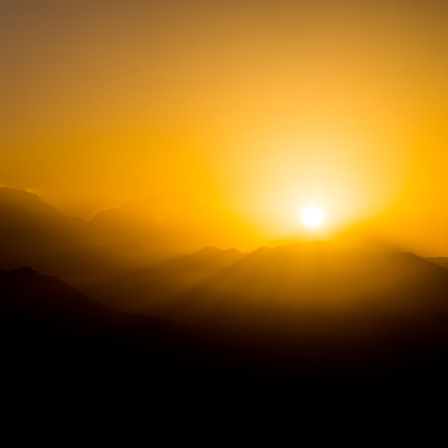 """Sunrise over Himalaya"" stock image"