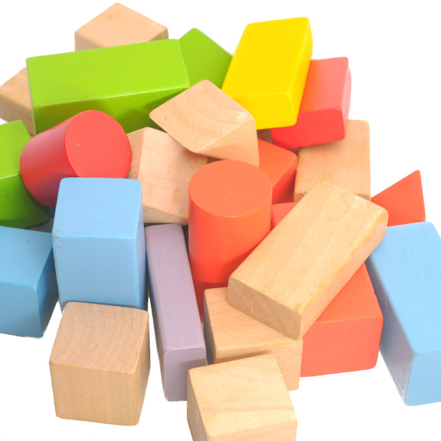"""Building blocks isolated on white"" stock image"