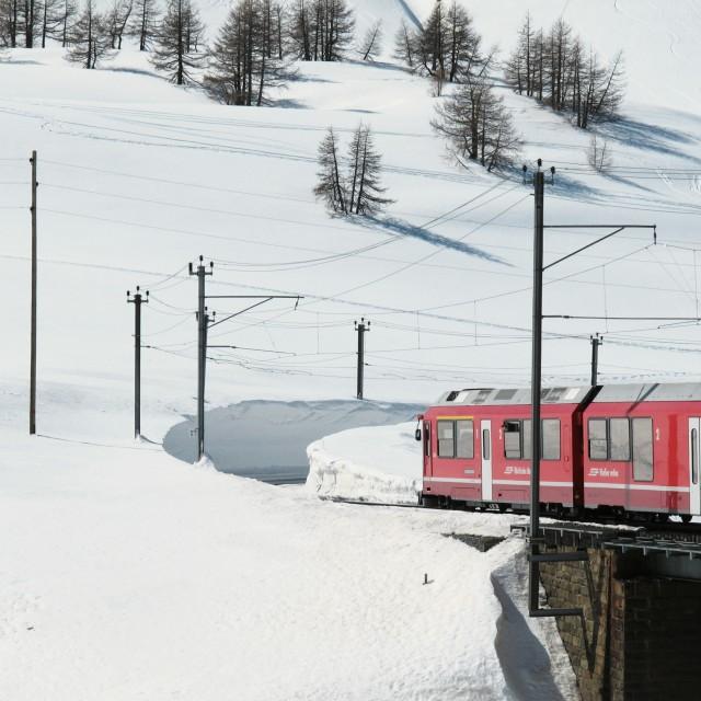 """Bernina Express train"" stock image"
