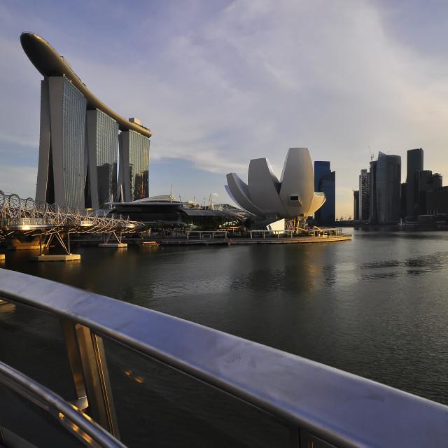 """A Scenery Marine Bay,Singapore From Bridges."" stock image"