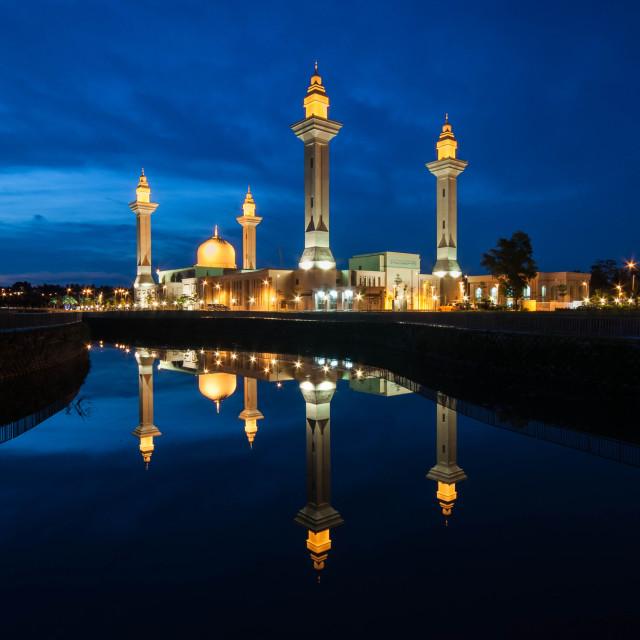 """Unique Mosque,Malaysia.Blue Hour."" stock image"