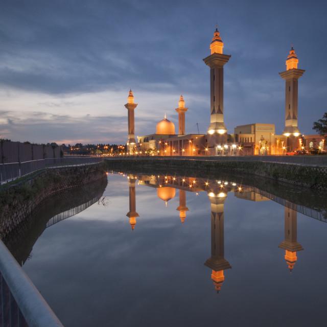 """""""Unique Mosque Tengku Ampuan Jemaah,Bukit Jelutong,Selangor,Malaysia."""" stock image"""
