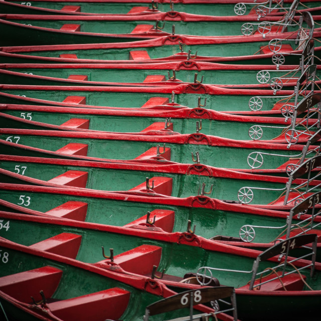 """Rowing Boats For Hire"" stock image"
