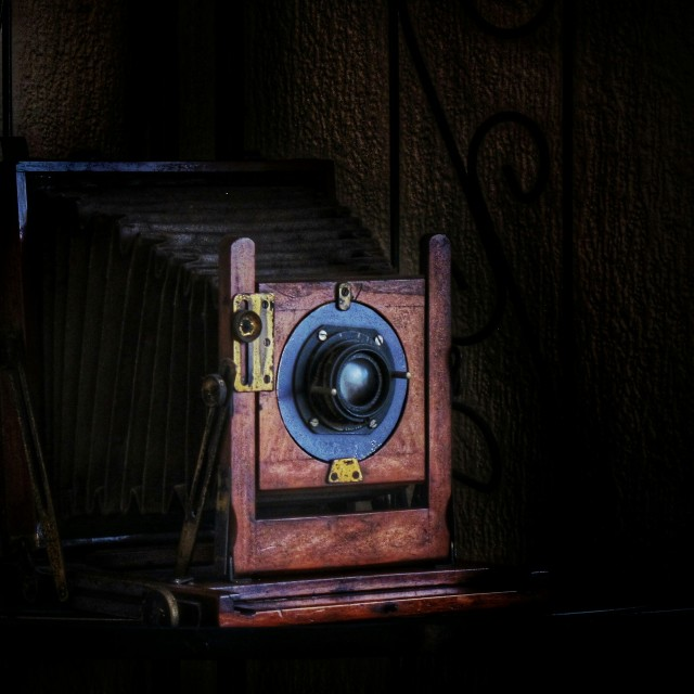 """""""Old plate camera"""" stock image"""