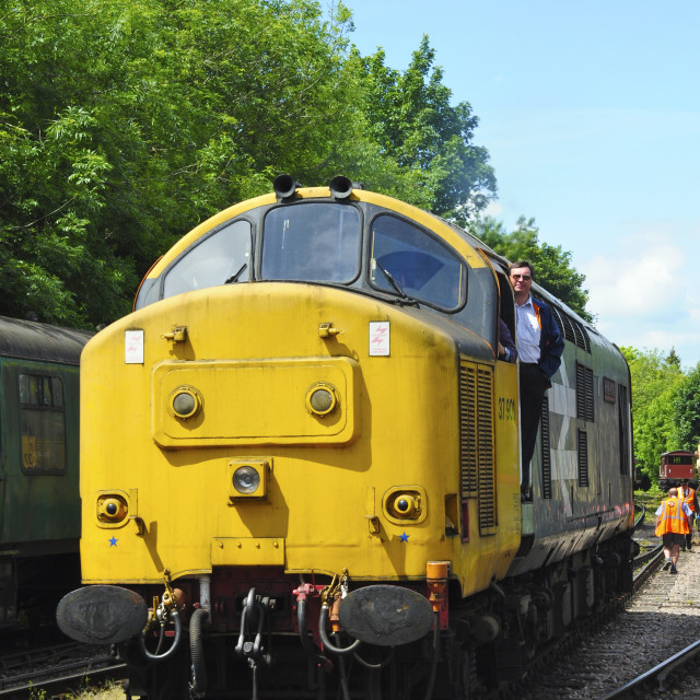 """Class 37 at Alresford"" stock image"