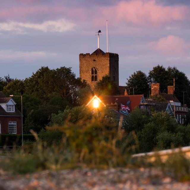 """""""Mersea island Church"""" stock image"""