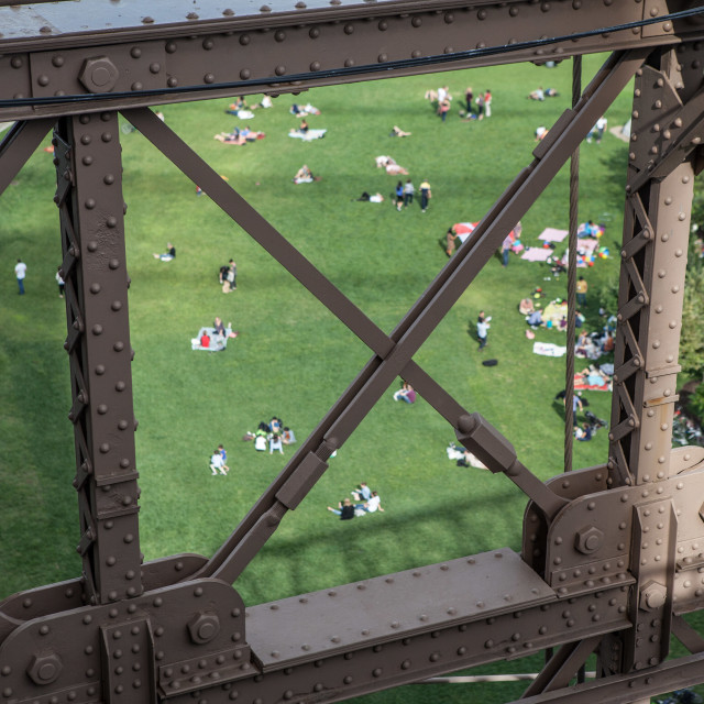 """Picnickers in Brooklyn"" stock image"