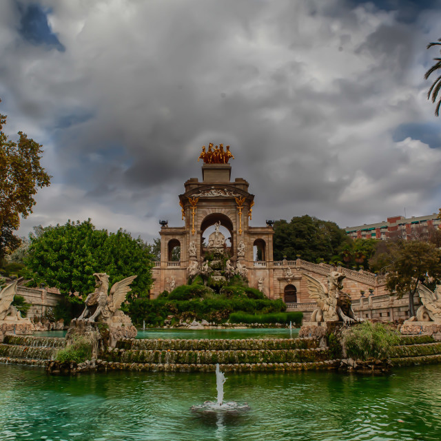 """Fountain in Barcelona"" stock image"