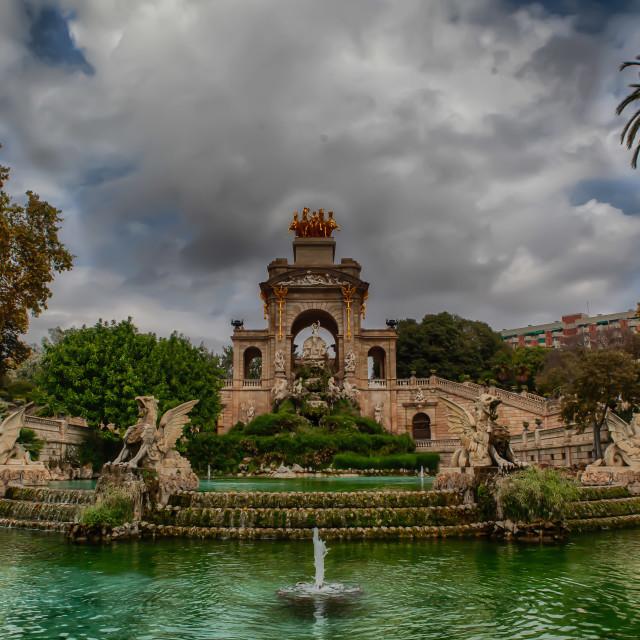 """Fountain in Barcelona"" stock image"