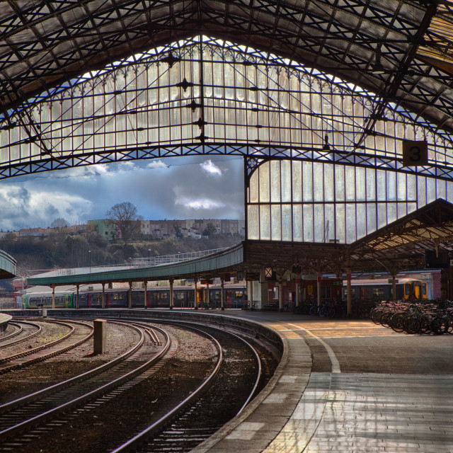 """Bristol Temple Meads Station"" stock image"