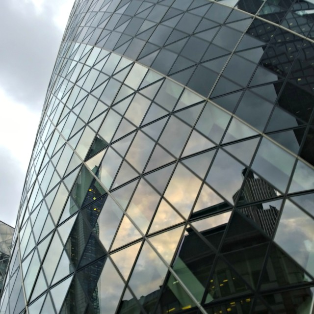 """Gherkin, London"" stock image"
