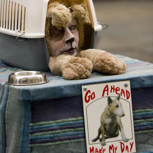 """""""Street entertainer, Covent Garden, London"""" stock image"""