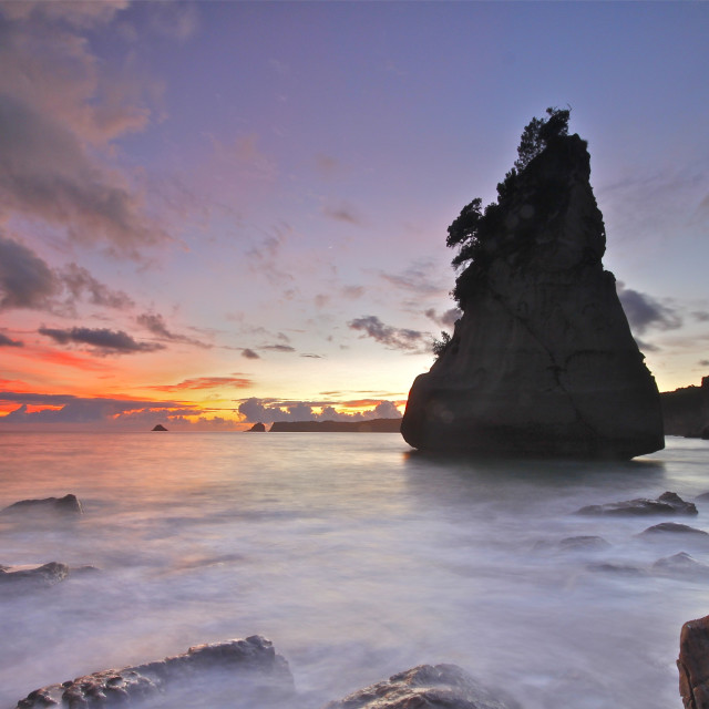 """""""Cathedral Cove"""" stock image"""
