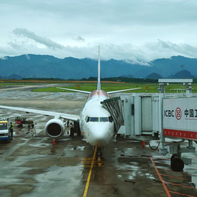"""Guilin Aeroplane"" stock image"