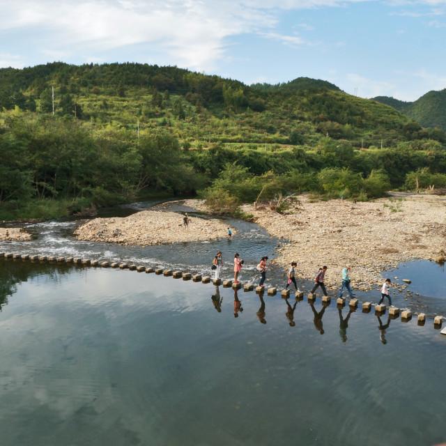 """River Crossing"" stock image"