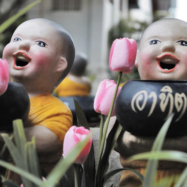 """Buddhist Smiles"" stock image"