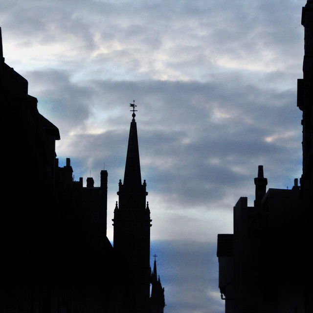 """""""Architecture on the Royal Mile"""" stock image"""