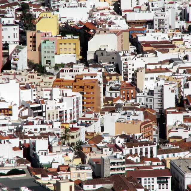 """""""Aerial view of Santa Cruz"""" stock image"""