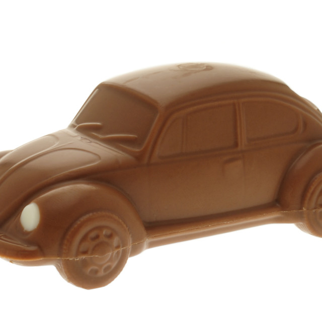 """Chocolate Volkwagen Beetle Car"" stock image"