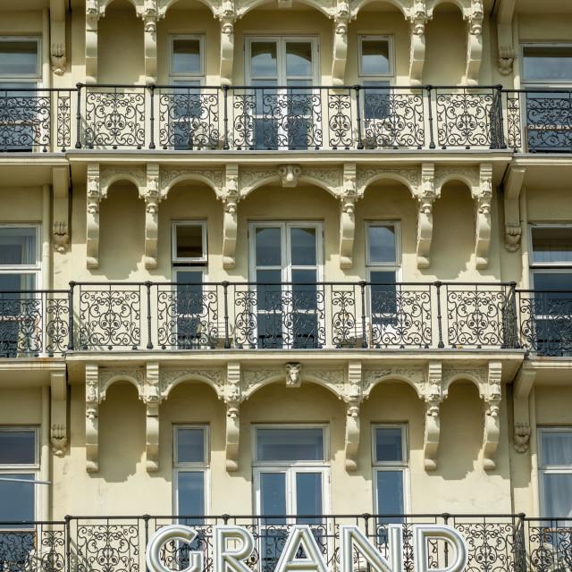 """The Grand Hotel, Brighton, England, Britain"" stock image"