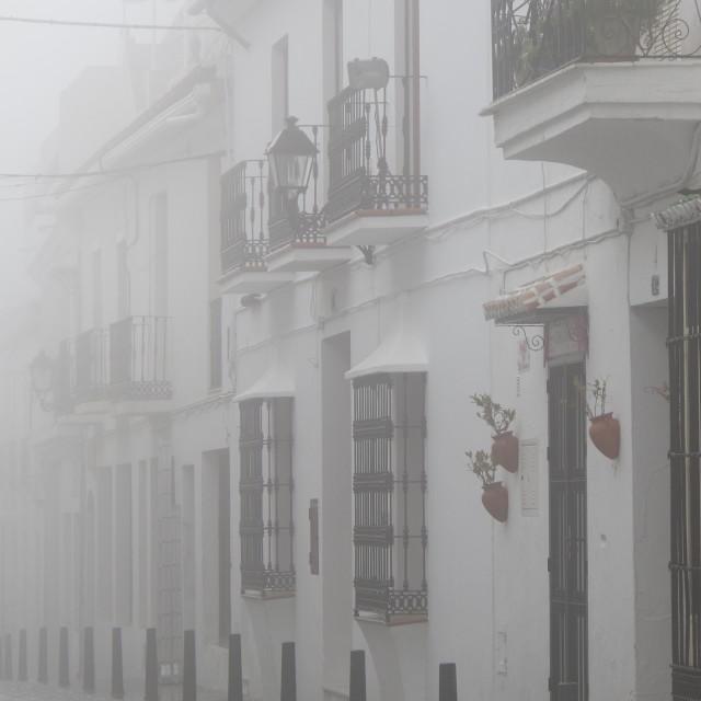 """Mist in Mijas"" stock image"