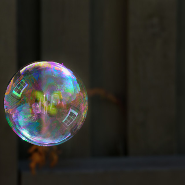 """Floating soap bubble"" stock image"