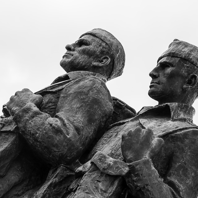 """The Commando Memorial"" stock image"